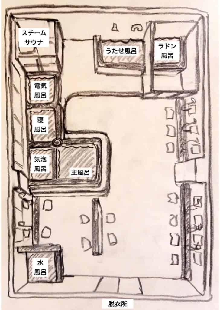 昭和湯 男湯マップ