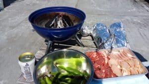 バーベキューで焼く食材たち